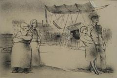 Die Schiffschaukel Steinradierung 1927