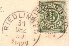 Poststempel von 1899
