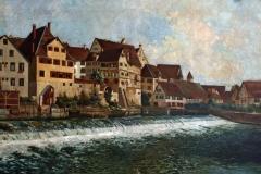 Alfred Mendler Stadtansicht Riedlingen 1898