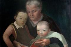1934 Großmutter mit Enkeln