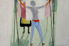 1966 Beim Wäsche aufhängen