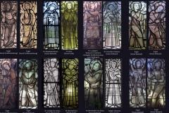 Zusammenstellung aller Burkart- Glasfenster - gefertigt für Riedlingen 1947/1948