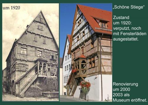"""""""Schöne Stiege"""" - 1920 und heute"""