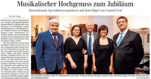 Schwäbische Zeitung am 29. April 2019